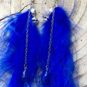 Pendientes-plumas-azules