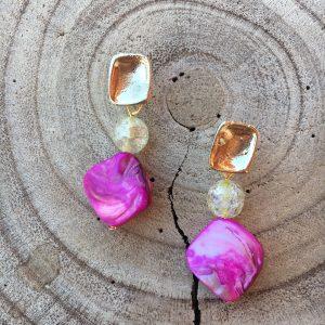 Pendientes-artesanal-rosa