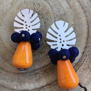 Pendientes-artesanales-azul