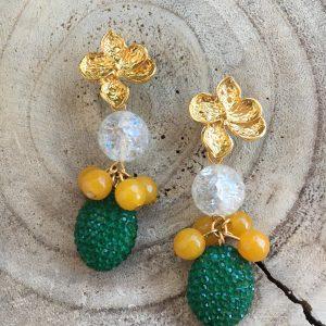 Pendientes-verde-amarillo