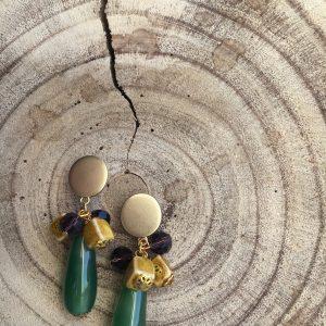 Pendientes-artesanales-dorados