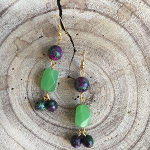 Pendientes-artesanales-verde