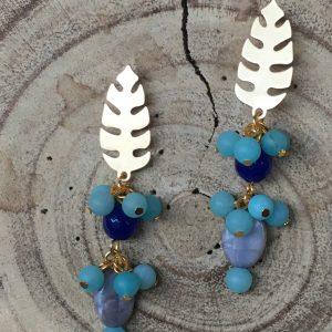 Pendiente-artesanal-azul-gris
