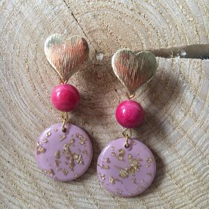 Pendiente-artesanal-rosa