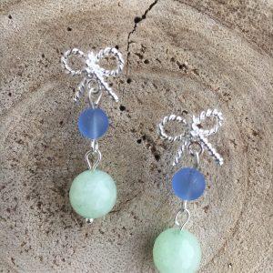 Pendientes-plateados-verde-azul