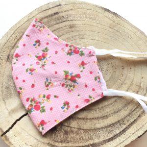 Mascarilla-flores-rosa